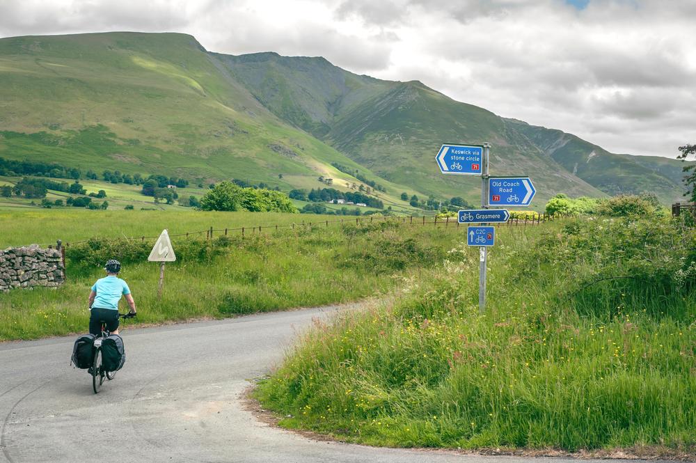 Lake District cyclist