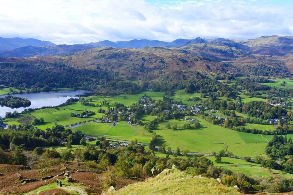 View of Grasmere from Alcock Tarn
